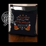 Trick Or Treat Smell My Feet Spangle Throw Pillow Cover 17x17