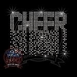 323 * Cheer Spangle Bling Rhinestone Style Transfer 4.25x3.5