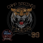 382-TS * Camp Springs Tigers Spangle Bling Tee
