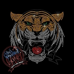 382 * Tiger Mascot Spangle Bling Rhinestone Style Transfer