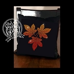 Falling Leaves Spangle Throw Pillow Cover 17x17