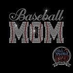 007 * Baseball Mom Spangle Bling Rhinestone Style Transfer