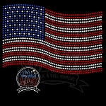 025 * American Flag Spangle Transfer 7.5x5.25