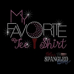 080 * My Favorite Tee Golf Spangle Bling Rhinestone Style Tshirt
