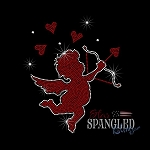 144 * Cupid Valentine Spangle Bling Rhinestone Style Transfer or Tee