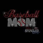 149 * Baseball Mom Spangle Bling Rhinestone Style Transfer or Tee