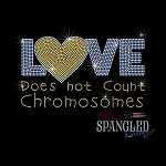 152 * Love Does Not Count Chromosomes Spangle Bling Transfer 10x6