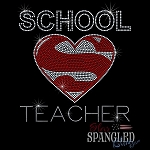 155 * School Teacher Spangle Bling Rhinestone Style Transfer or Tee