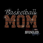 156 * Basketball Mom Spangle Bling Rhinestone Style Transfer