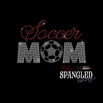 194 * Soccer Mom Spangle Bling Rhinestone Style Transfer or Tee