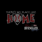 195 * No Place Like Home Baseball Spangle Bling Rhinestone Style Transfer or Tee
