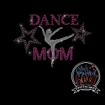 216 * Dance Mom Spangle Bling Rhinestone Style Transfer or Tee