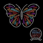 237 * Colorful Butterfly Spangle Bling Rhinestone Style Transfer or Tee