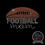 246 * Football Mom Spangle Bling Rhinestone Style Transfer or Tee