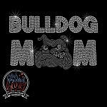 250 * Bulldog Mom Spangle Bling Rhinestone Style Transfer or Tee