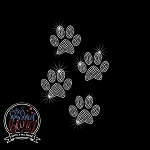 264 * 2 Inch Dog Paw Spangle Transfer