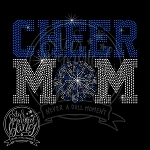 283 * Cheer Mom Pom Pom Spangle Bling Rhinestone Style Transfer
