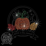 287 * Little Fall Pumpkin Spangle Bling Rhinestone Style Transfer or Tee