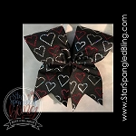292 * Hearts Spangle Bling Cheer Bow Transfer Strips
