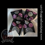 299 *  Circle Dots Spangle Bling Cheer Bow Transfer Strips