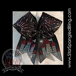 301 * Castle & Bursts Spangle Bling Cheer Bow Transfer Strips