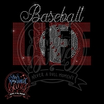 348 * Baseball Life Spangle Bling Rhinestone Style Transfer