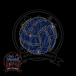 355 * 8 Inch Volleyball Spangle Bling Rhinestone Style Transfer