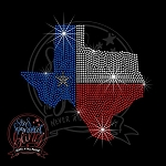 362 * Texas State Shape Flag Spangle Bling Rhinestone Style Transfer
