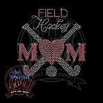 367 * Field Hockey Mom Spangle Bling Rhinestone Style Transfer