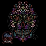 368 * Sugar Skull Spangle Bling Rhinestone Style Transfer