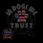 444 * In Dogs We Trust America Spangle Transfer