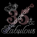 240 * Fabulous Age Crown Spangle Bling Transfer
