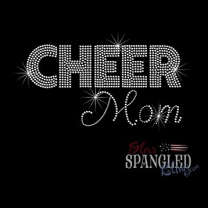055 * Cheer Mom Spangle Bling Rhinestone Style Transfer 9.25x4.75