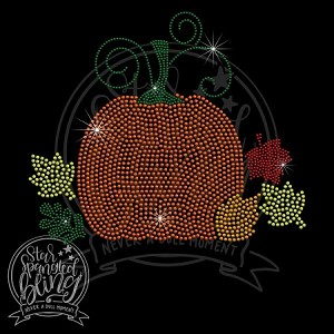 286 * Fall Pumpkin Spangle Bling Rhinestone Style Transfer or Tee